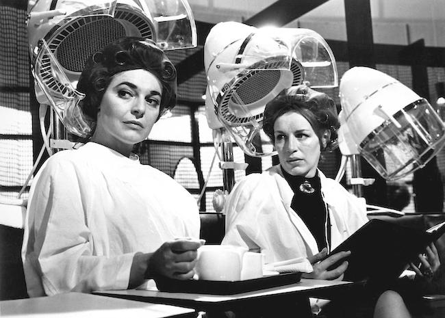 Anne Bancroft and Yootha Joyce in a scene from the film of The Pumpkin Eater