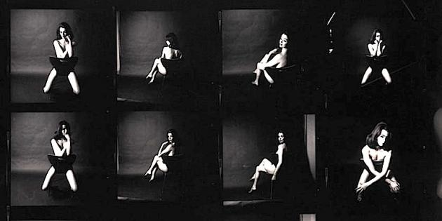 A contact sheet of Lewis Morley's pictures of Christine Keeler features in the Scandal '63 exhibition at the National Portrait Gallery