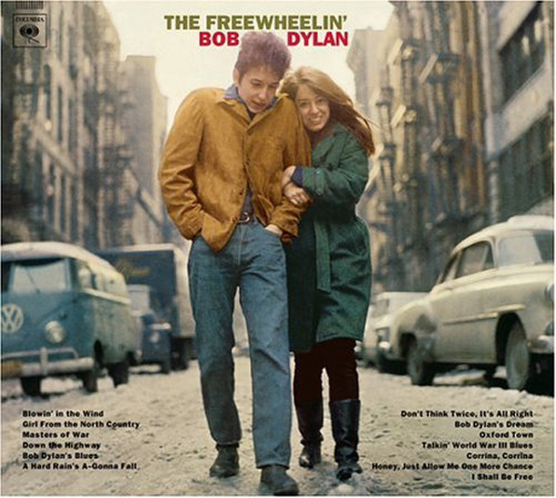 Bob Dylan and Suze Rotolo on the cover of The Freewheelin' Bob Dylan